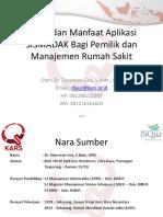 DR Diyurman - Peran Dan Manfaat Aplikasi SISMADAK Jan 2018