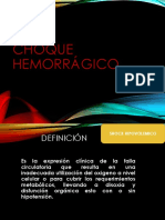 CHOQUE HEMORRAGICO