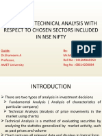 A STUDY ON TECHNICAL ANALYSIS WITH RESPECT TO CHOSEN SECTORS INCLUDED IN NSE NIFTY