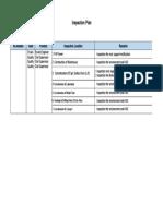 Inspection Plan (8 Nov 2018)