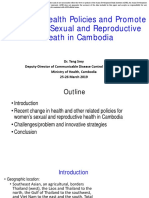 Trend in Health Policies and Promote Women's Sexual and Reproductive Heath in Cambodia