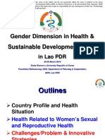 Gender Dimension in Health and Sustainable Development Goals in Lao PDR