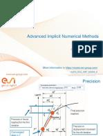 Advanced Implicit Numerical Methods