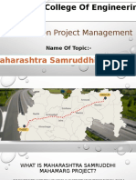 A presentation on samruddhi mahamarg.