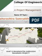 A presentation on samruddhi mahamarg.