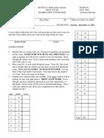 Math 251 Old Final Exam-2005-Fall