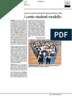 Premiati i cento studenti modello - Il Resto del Carlino del 10 aprile 2019