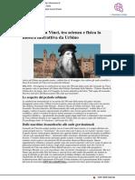 Leonardo da Vinci, tra scienza e fisica la mostra interattiva a Urbino - Liberiamo.it, 10 aprile 2019
