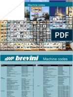 Machine Codes Table
