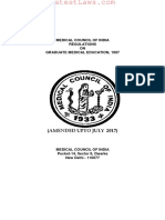 Medical Council of India Regulations on Graduate Medical Education, 1997
