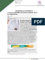 Formazione farmacisti, insediato il Comitato Scientifico di Farma Academy - Farmacista33.it, 10 aprile 2019