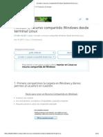 Acceder a Recurso Compartido Windows Desde Terminal Linux