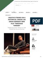 Creative Strokes on a Historical Canvas_ on Girish Karnad's New Play _Rakshasa Tangadi_ _ the Theatre Times