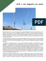 A Construção Civil e Seu Impacto No Meio Ambiente