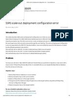 SSRS Scale-out Deployment Configuration Error - Jonas Widriksson