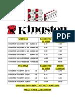 Listino Kingston 05.03