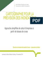 CARTOGRAPHIE POUR LA PRÉVISION DES INONDATIONS