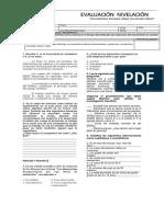 nivelacion  FISICA 6B