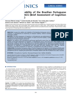Sensitivity and Applicability of the Brazilian Version of the Brief Assessment of Cognition in Schizophrenia (BACS-2