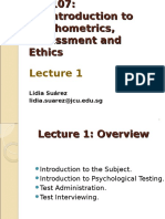 An Introduction to Psychometrics