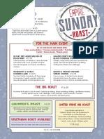 Empire Sunday Roast Lunch Menu EN
