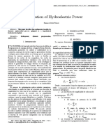 Optimization of Hydroelectric Power