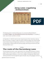 Nuremberg Laws_ Legalizing Antisemitism - History
