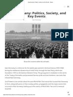 Nazi Germany_ Politics, Society, And Key Events - History