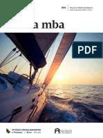 Informator 2019 - studia MBA - Wyższa Szkoła Bankowa w Poznaniu