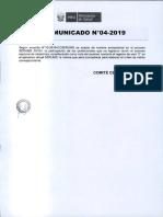 Comunicado 04 2019b