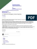 Objetivos de La Investigación  General y Específicos