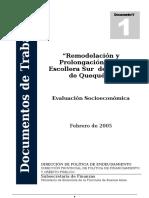 Evaluación Socioeconómica Quequén Ampliada Abril 05