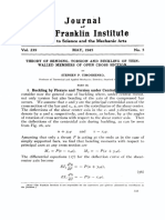 Journal of the Franklin Institute Volume 239 issue 5 1945 [doi 10.1016%2F0016-0032%2845%2990013-5] Stephen P. Timoshenko -- Theory of bending, torsion and buckling of thin-walled members of open cros.pdf