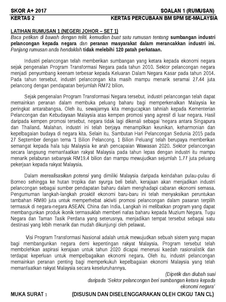 Kertas 2 25 Set Soalan Skema Kompilasi Soalan Rumusan Percubaan Spm 2017 Se Malaysia Converted