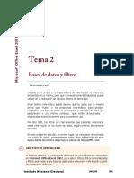 Lectura 2. Base de Datos y Filtros