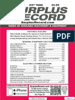 MAY 2019 Surplus Record Machinery & Equipment Directory