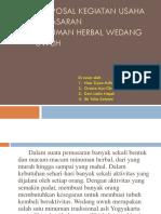 Proposal Wedang