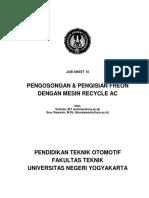 Job Sheet 10 Pengosongan dan Pengisian Freon dengan Mesin Recycle AC.pdf