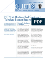 Tech Letter-NFPA 54 to Include Bonding 8-08