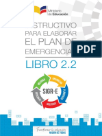 Libro2.2 Instructivo Para Elaborar El Plan de Emergencias SIGR E