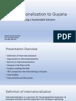 Internationalization to Guyana