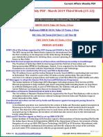 Current Affairs Weekly PDF - March 2019 Third Week (15-22)