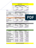 taller de costos y presupuesto