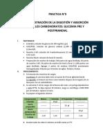 Informe de Laboratorio Praticas de Bioquímica