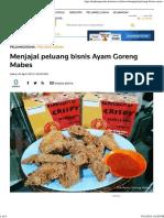 Menjajal Peluang Bisnis Ayam Goreng Mabes