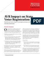 AVR Impact on State Voter Registration