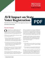 AVR Impact on State Voter Registration