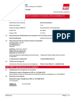 Ficha técnica azul de bromofenol