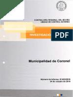 INFORME INVESTIGACIÓN ESPECIAL 623-16 MUNICIPALIDAD DE CORONEL- SOBRE PRESUNTAS IRREGULARIDADES ACONTECIDAS EN LA MUNICIPALIDAD - NOVIEMBRE 2016.pdf