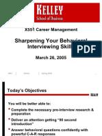 Behavioral Interviewing Skills 2005